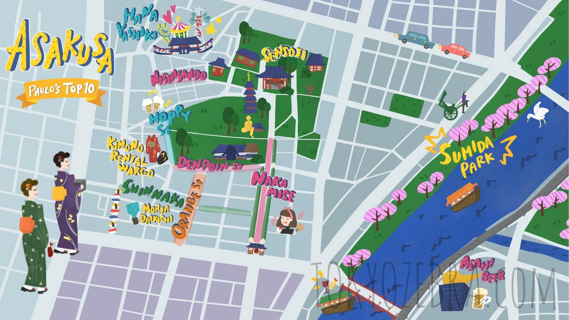 Tokyo Maps seen on Paolo fromTOKYO Tokyo Zebra