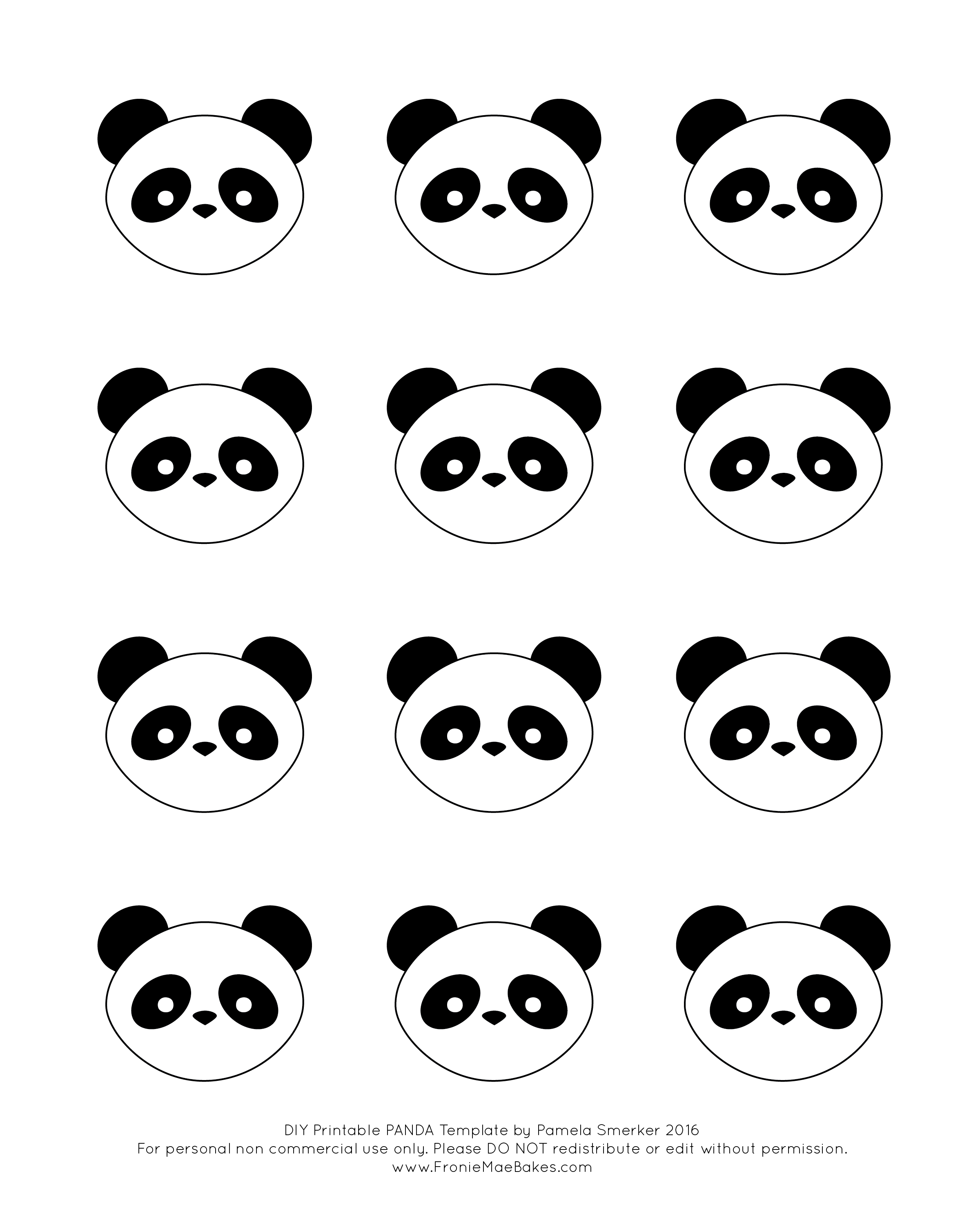 Download The Free Printable Template Here FREE PANDA TEMPLATE And Print It Out Next Whip Up A Batch Of Royal Icing