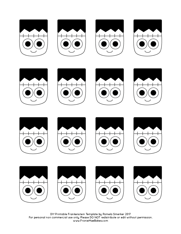 monster chocolate cupcake topper template