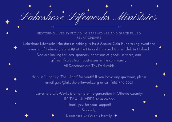 GALA Event — Lakeshore Lifeworks Ministries