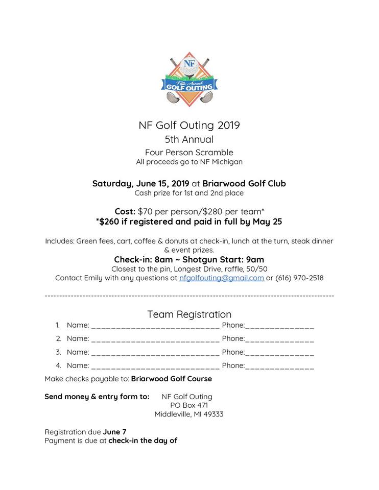 5th Annual NF Golf Outing NF Michigan