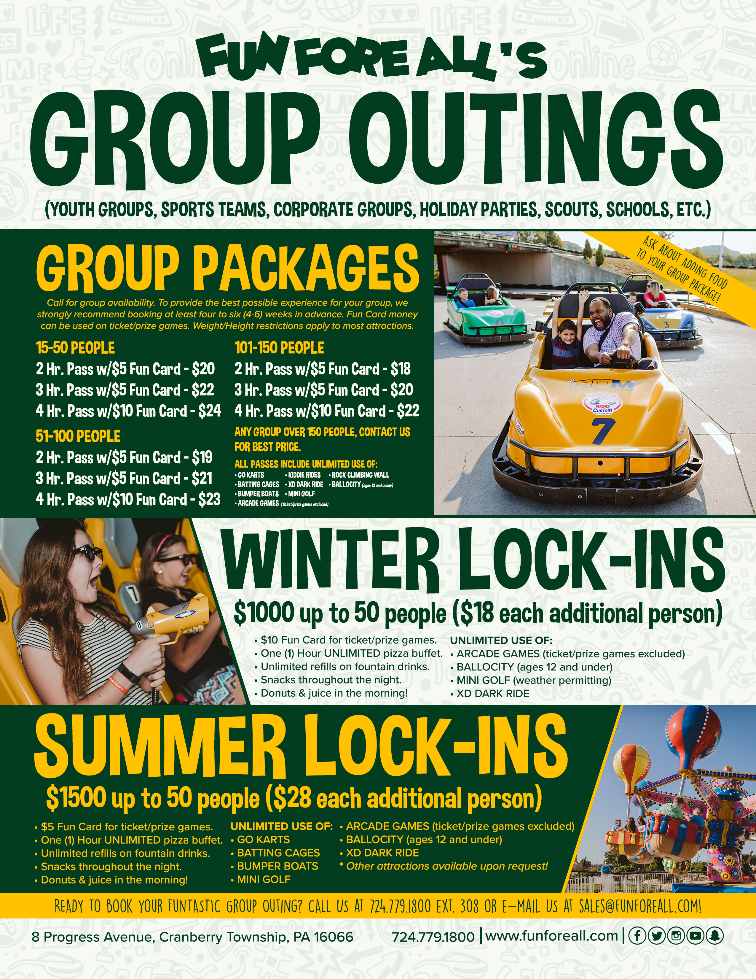 Groups — Fun Fore All Family Fun Park