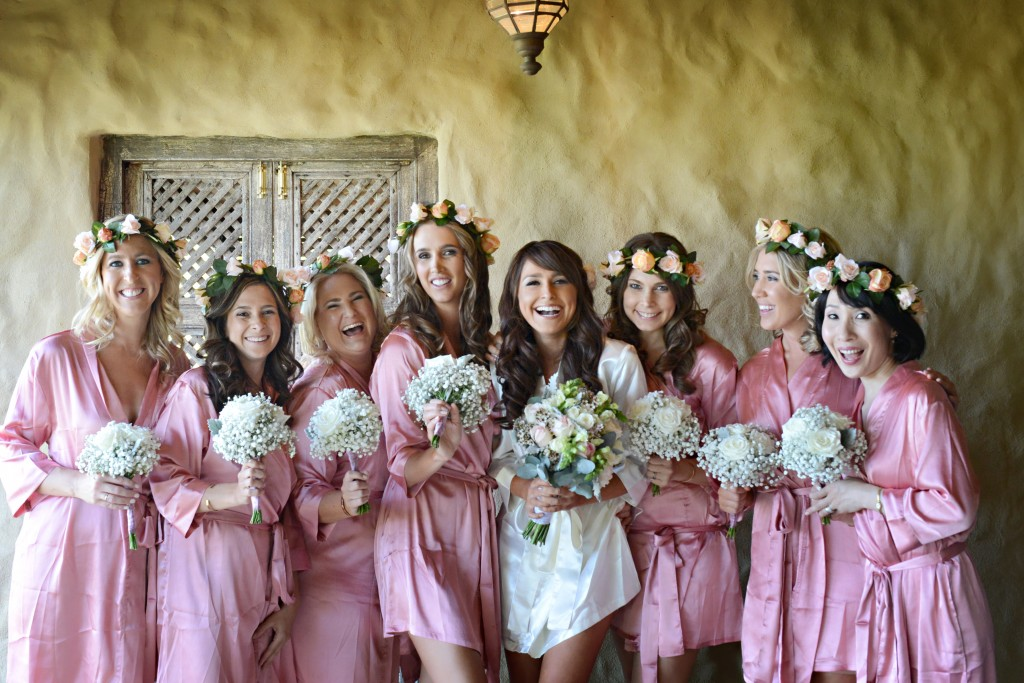 A group of happy bridesmaids