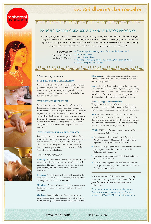 Spa Menu — Maharani Academy