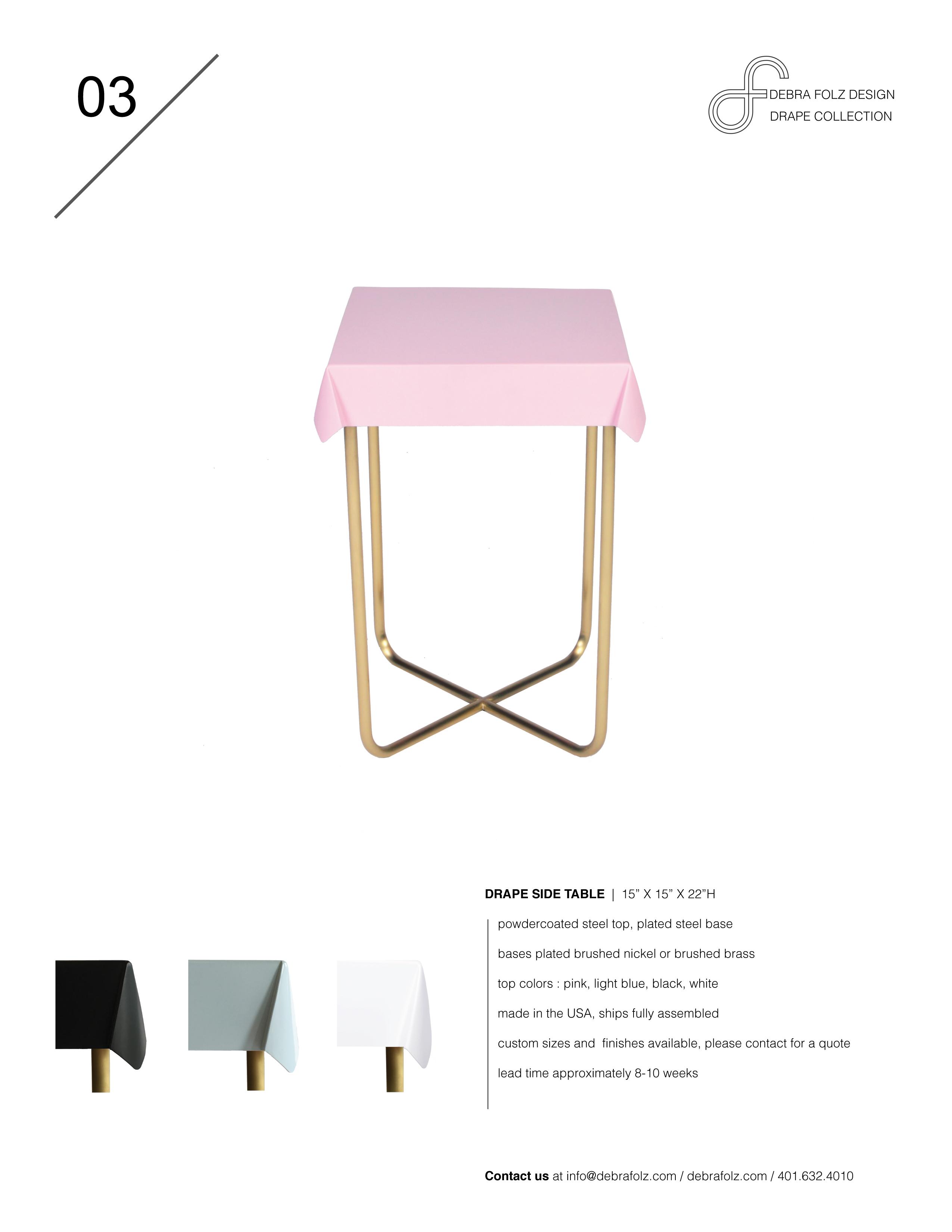 Drape Side Table — Debra FolzDebra Folz