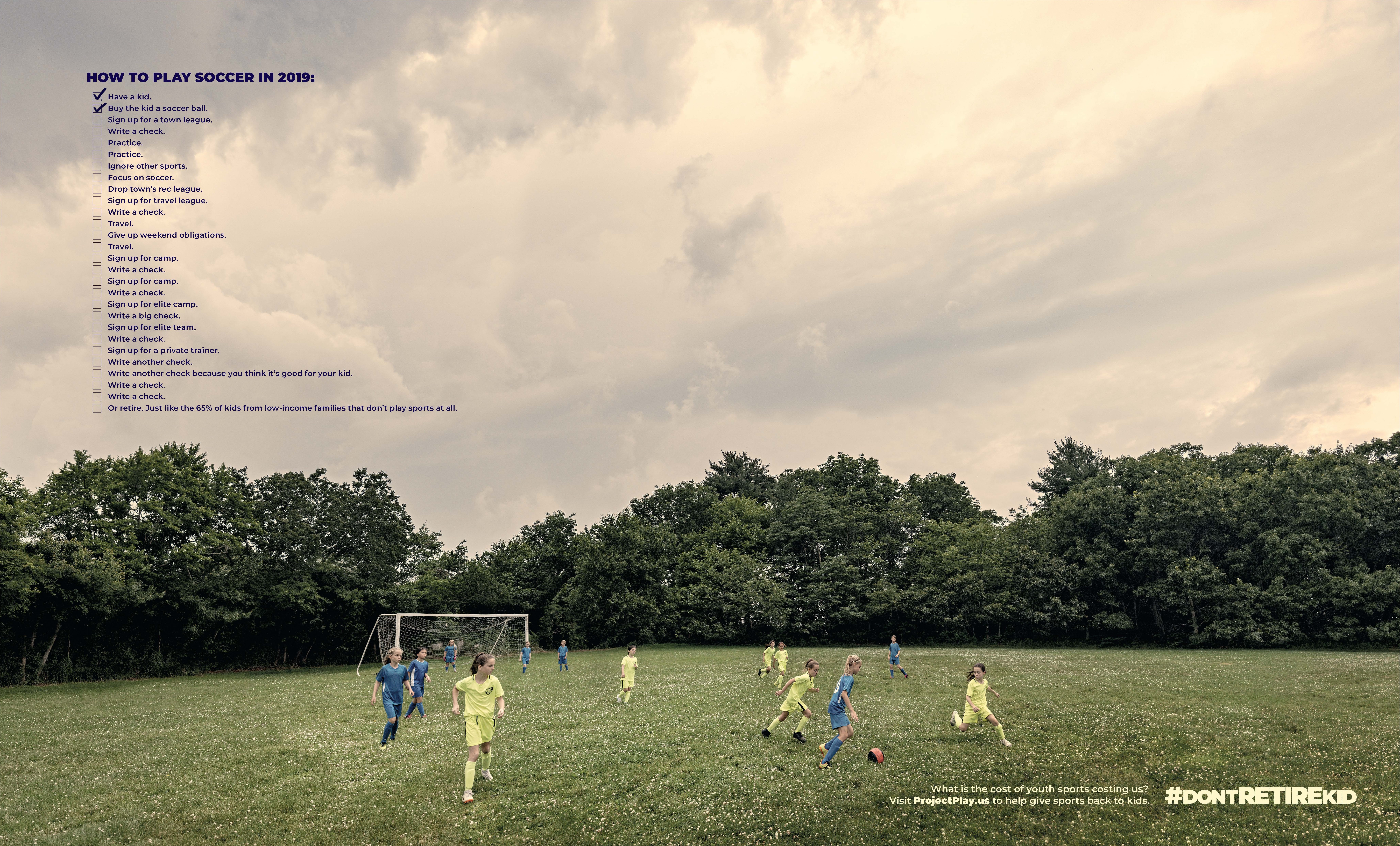 """d0598f9bd """"Don't Retire Kid,"""" a new Project Play parent engagement campaign, is  designed to drive public awareness of youth attrition in sports."""