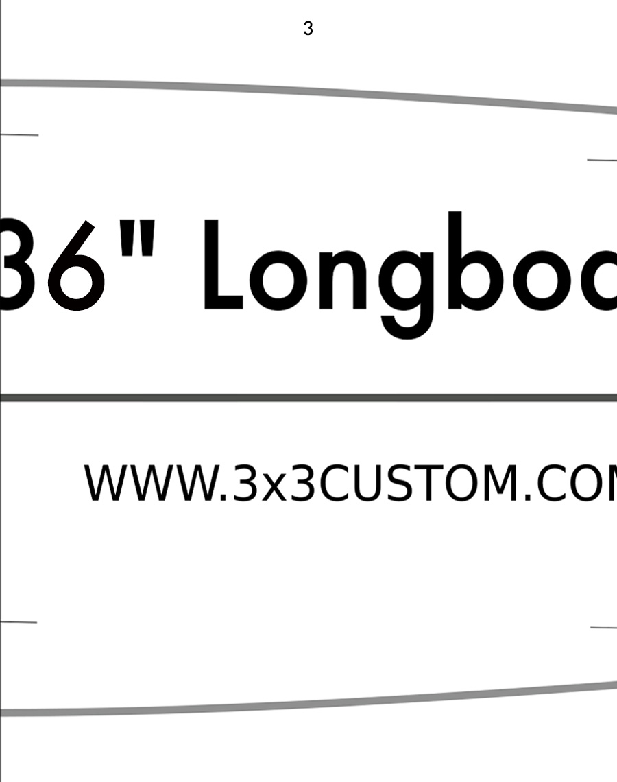 graphic regarding Longboard Template Printable titled Do-it-yourself Longboard 3x3 Customized