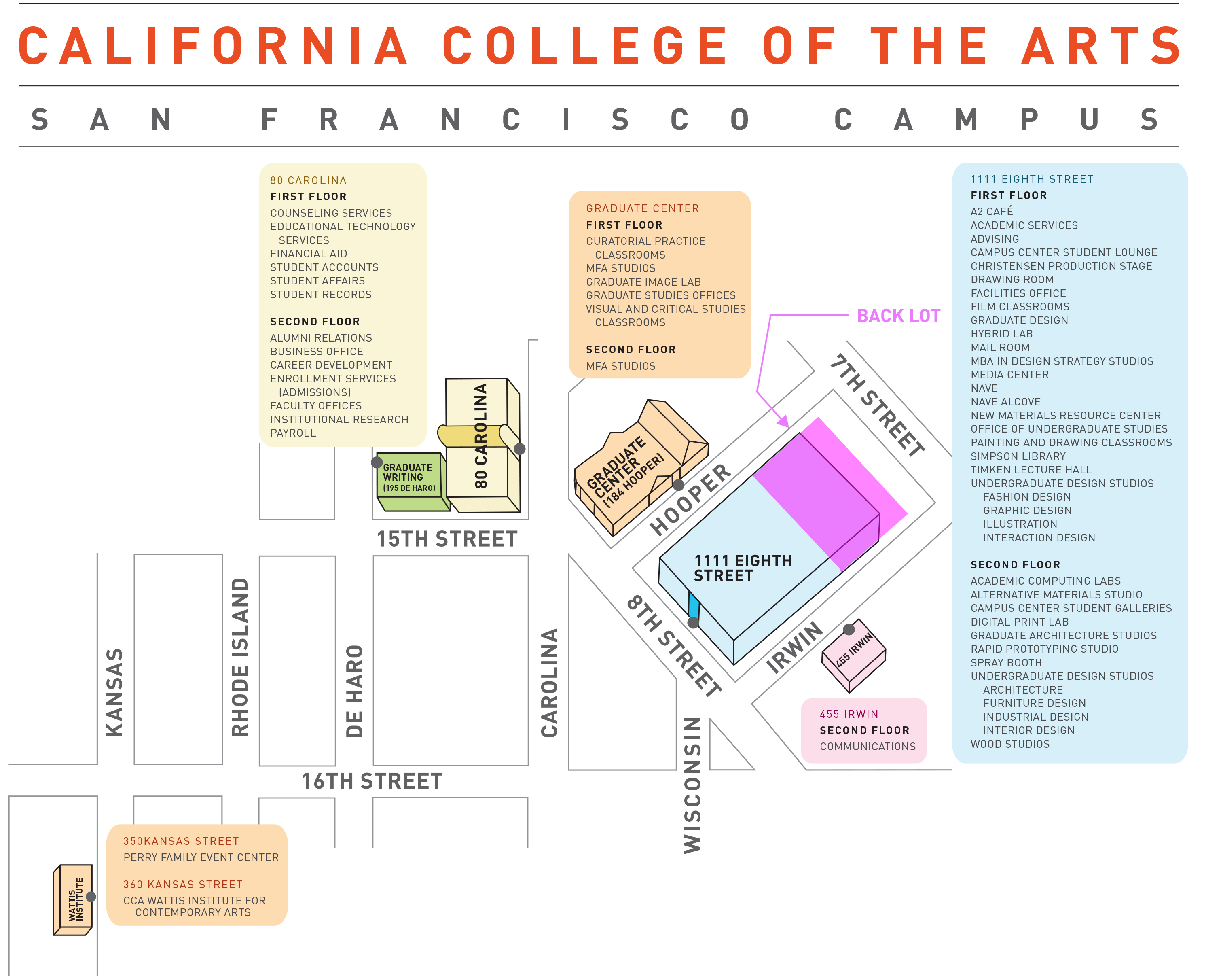 Cca Sf Campus Map.Designing Material Innovation