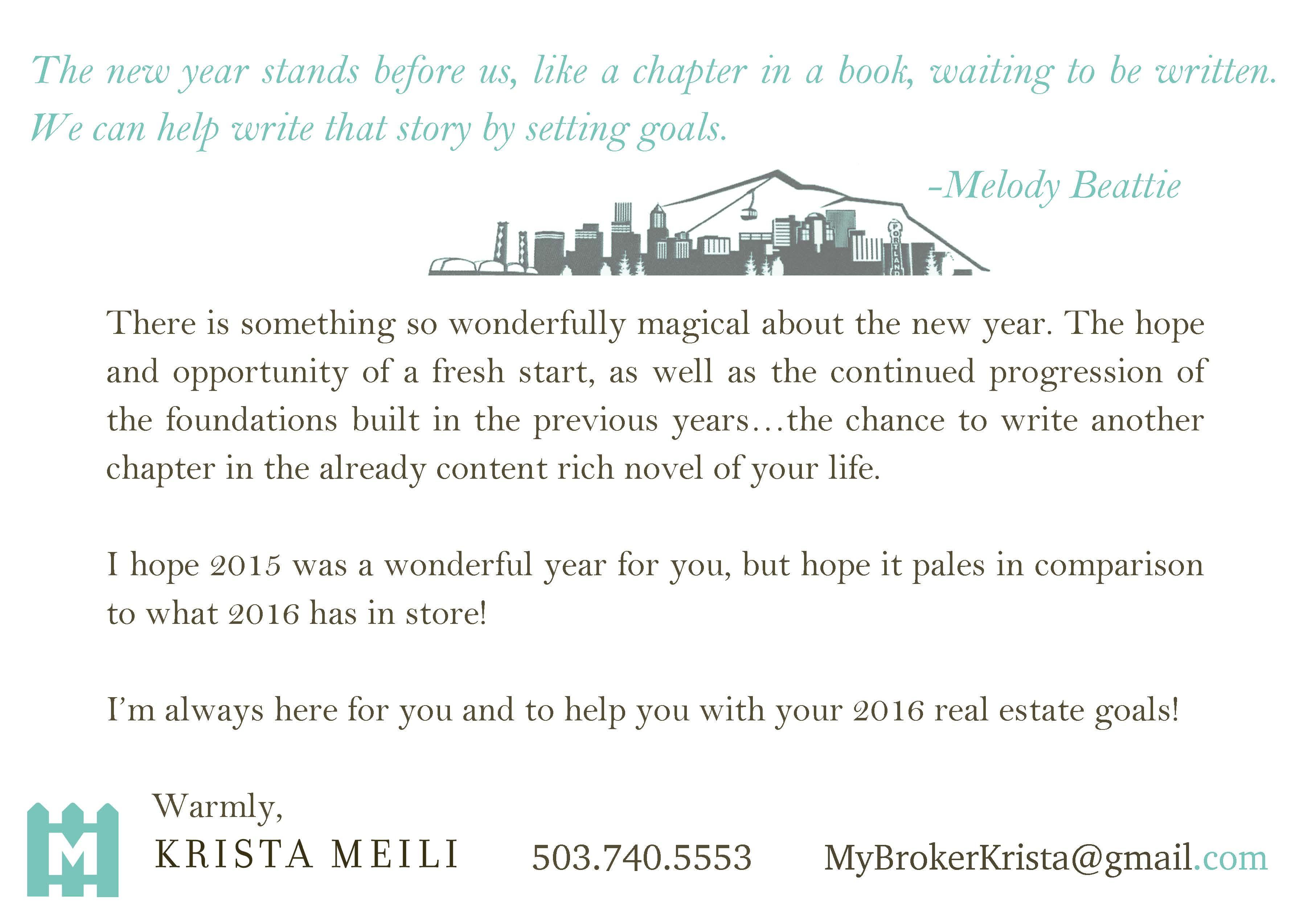 Happy New Year - Postcard — Krista Andrews