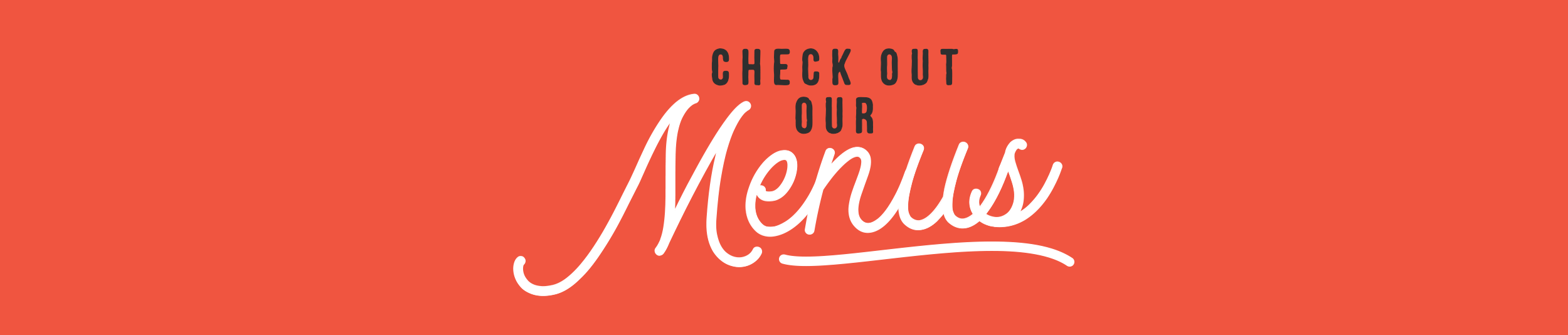 Check out our menu