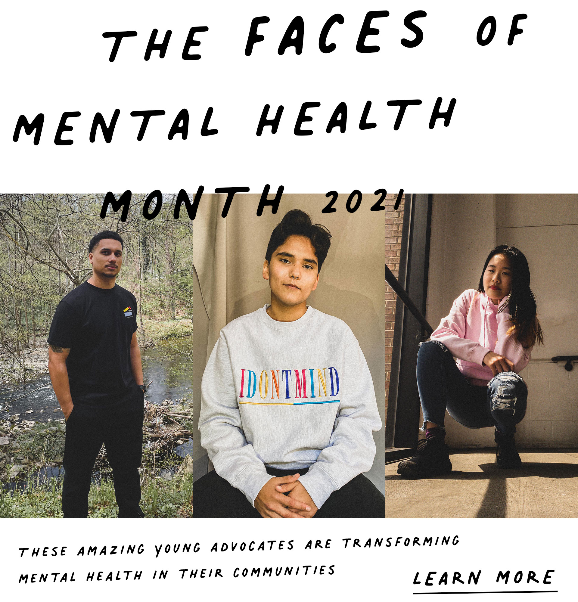 The Faces of Mental Health Month