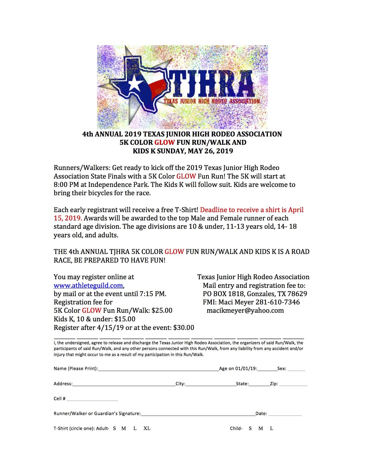 Forms Amp Finals Texas Junior High Rodeo Association