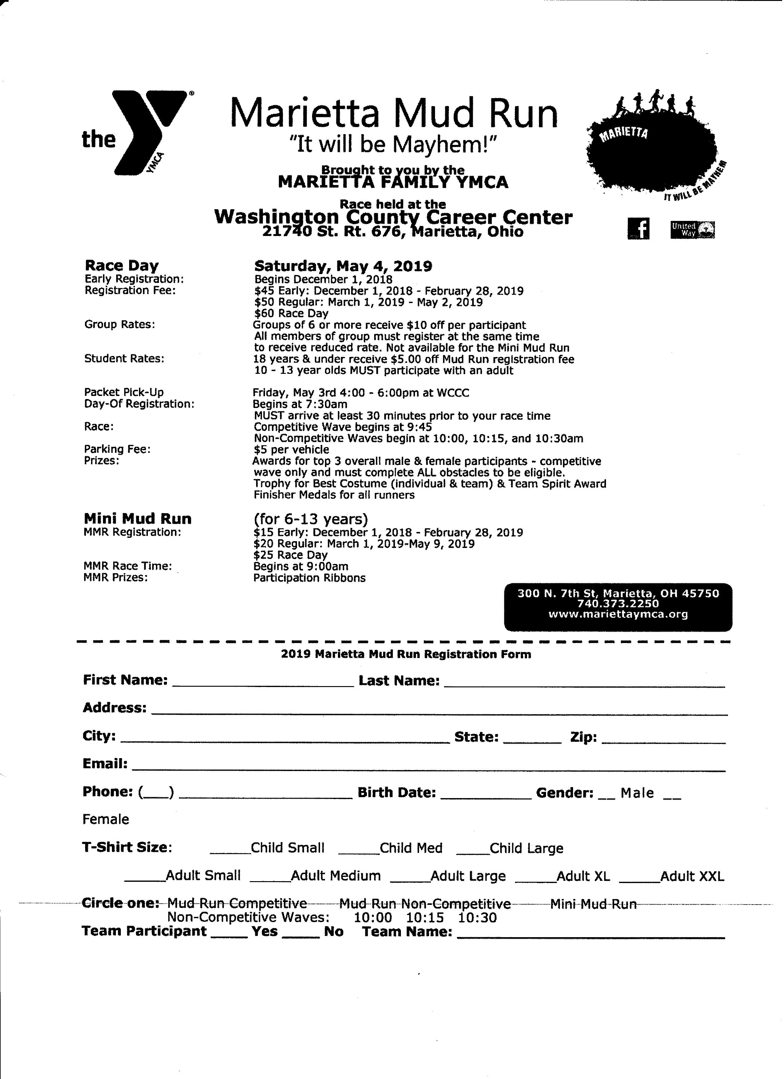 Marietta YMCA Mud Run — River City Runners and Walkers Club