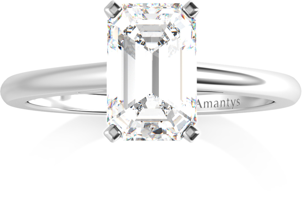 Amantys Bague Diamant Emeraude