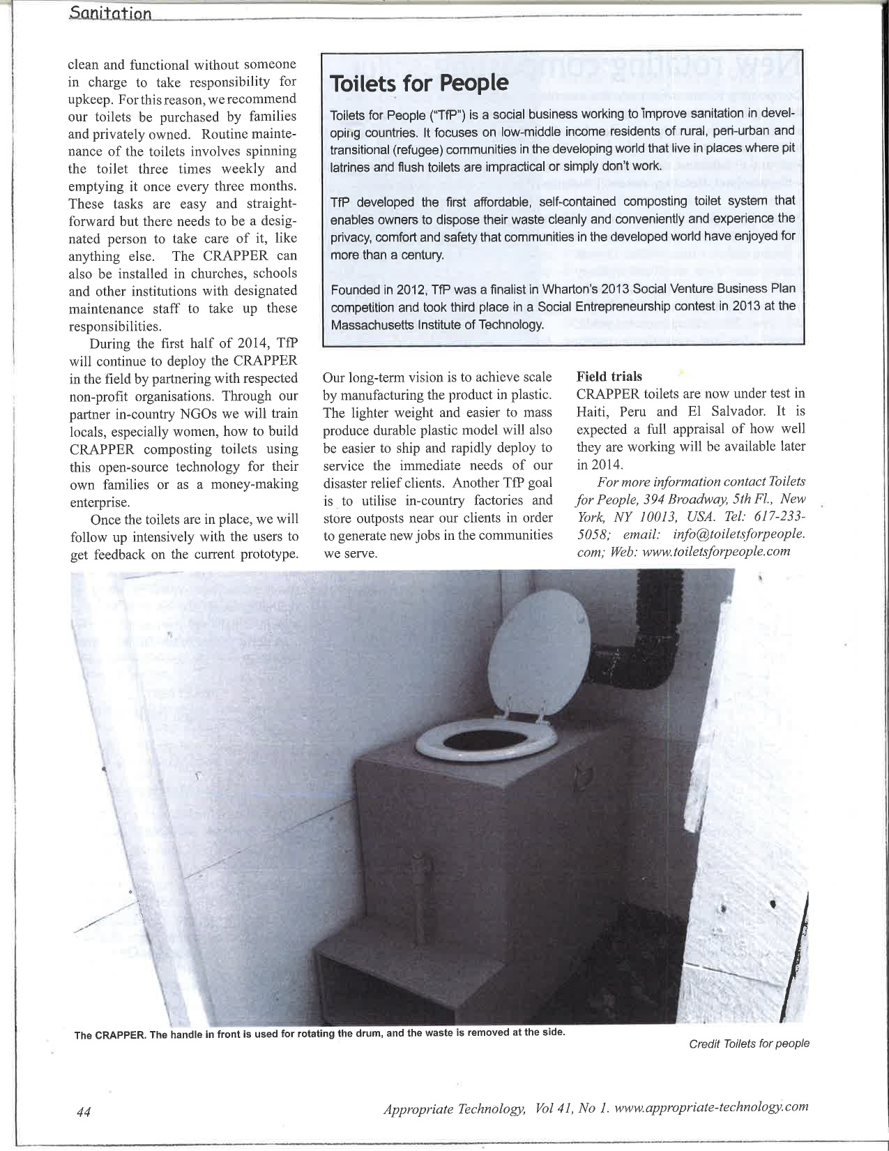 PDF Article — Toilets for People