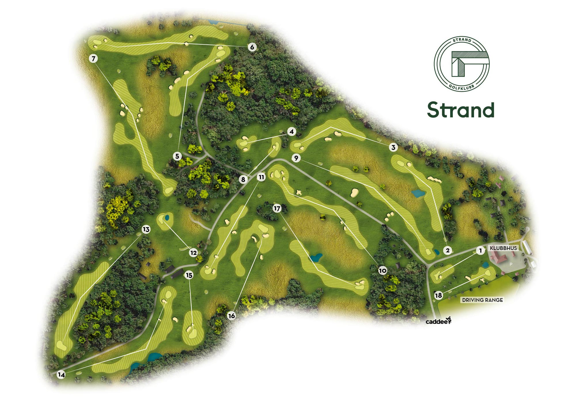 Strand Golf Course Map