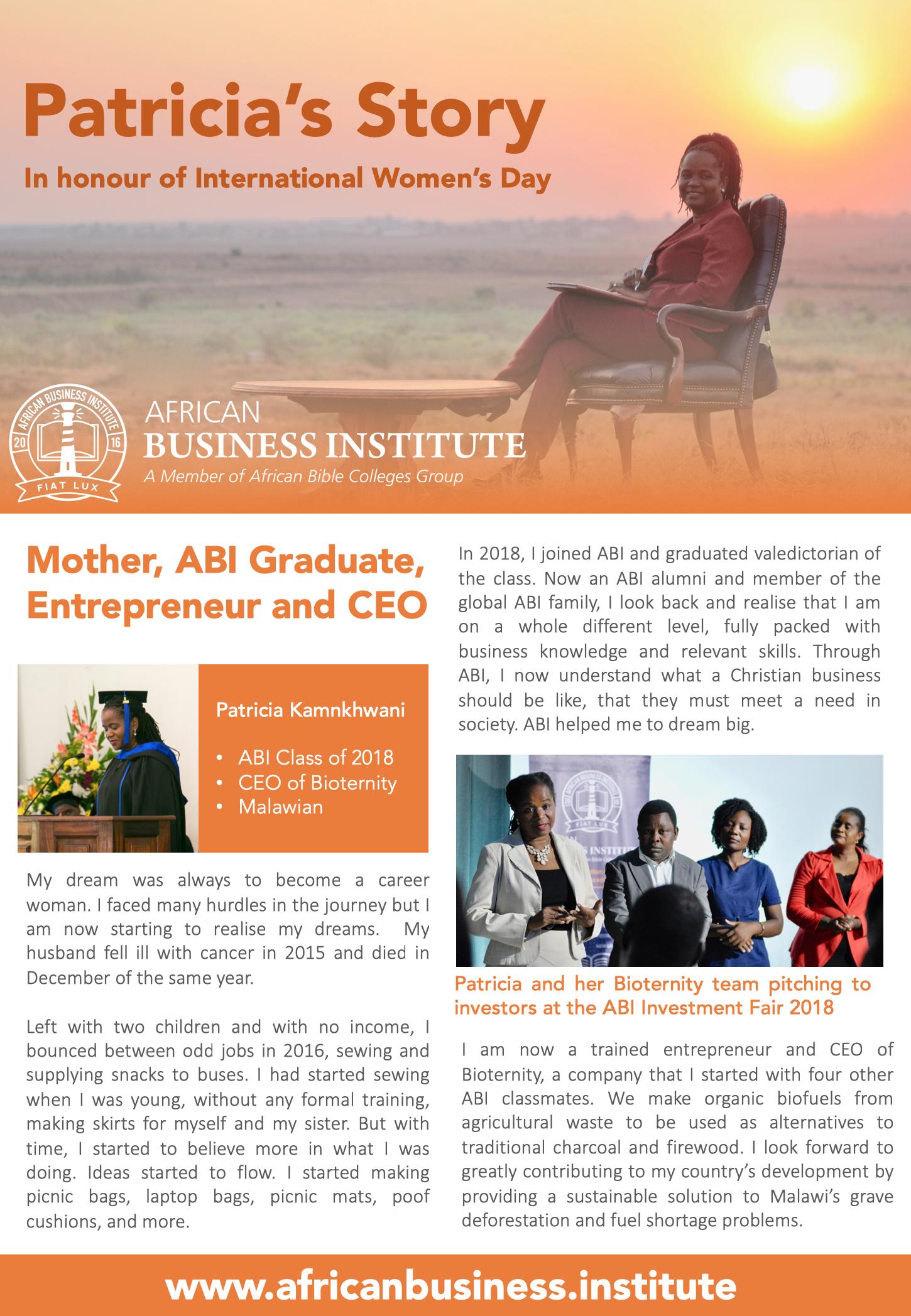 International Women's Day — African Business Institute