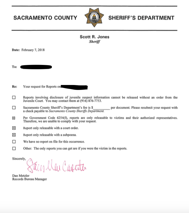 The California Public Records Act and Arrest Reports — Law Offices
