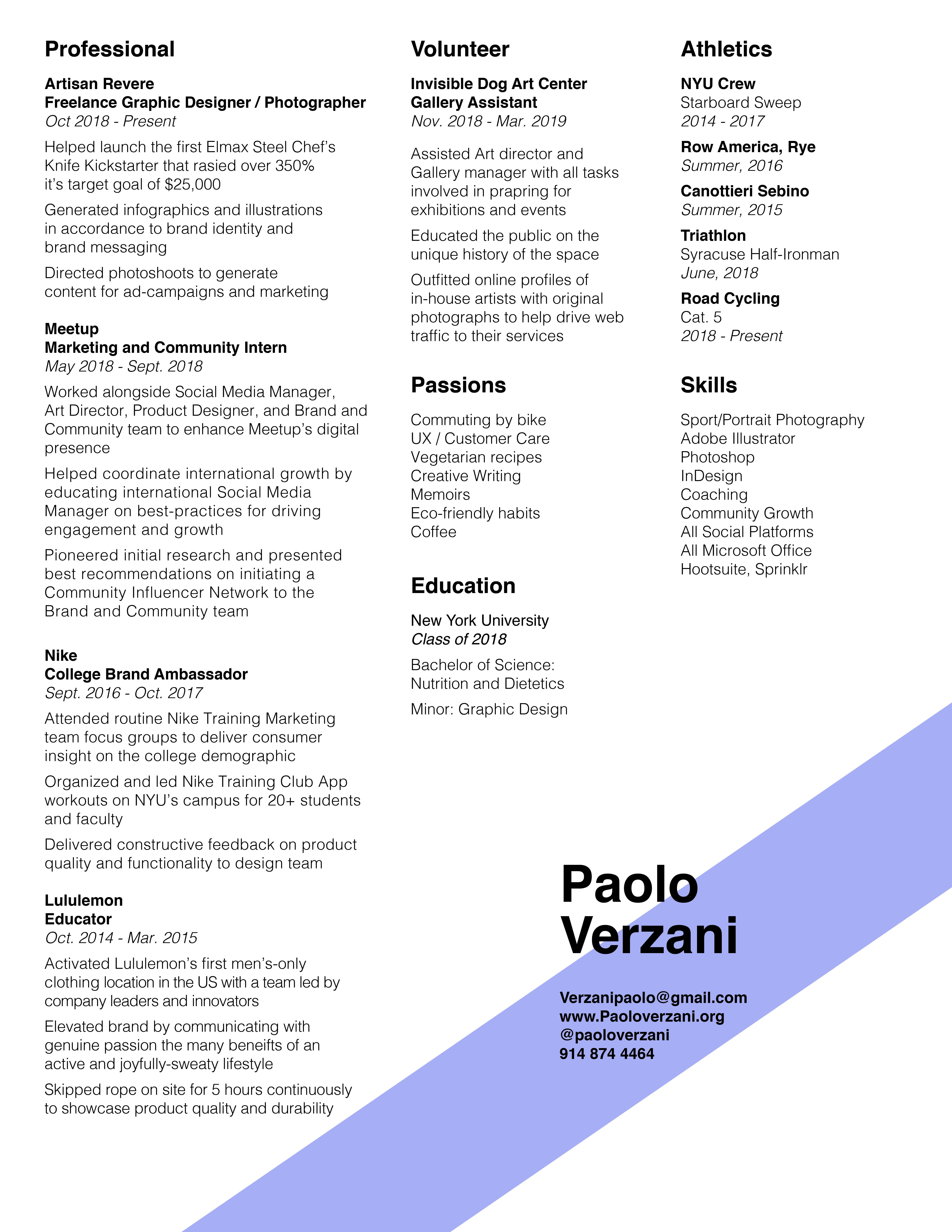 Resume — pv