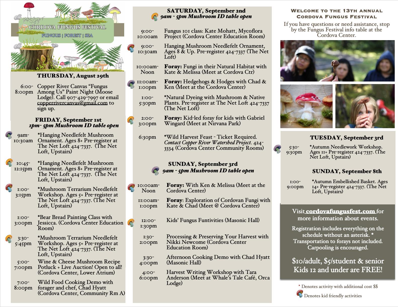 Wild Harvest Feast — Cordova Fungus Festival