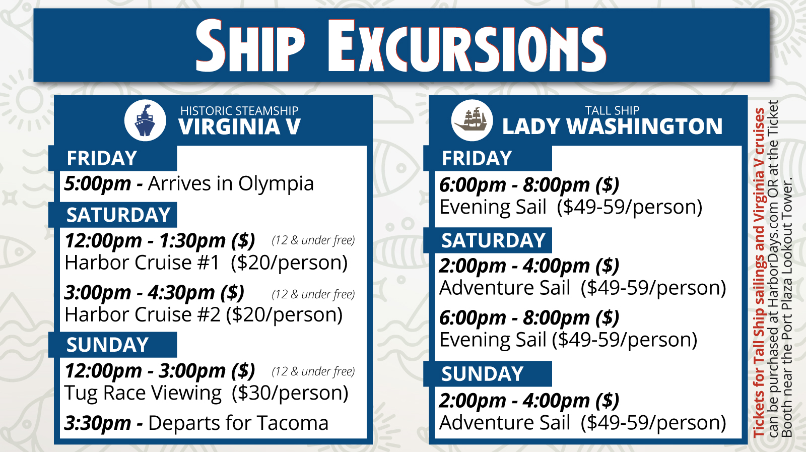 Harbor Days Schedule & Programming — Olympia Harbor Days | 3