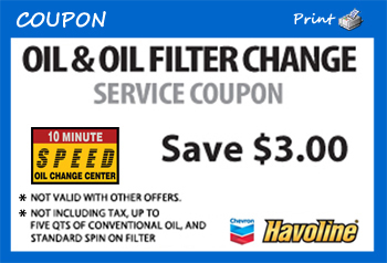 Coupons Speed Oil Change