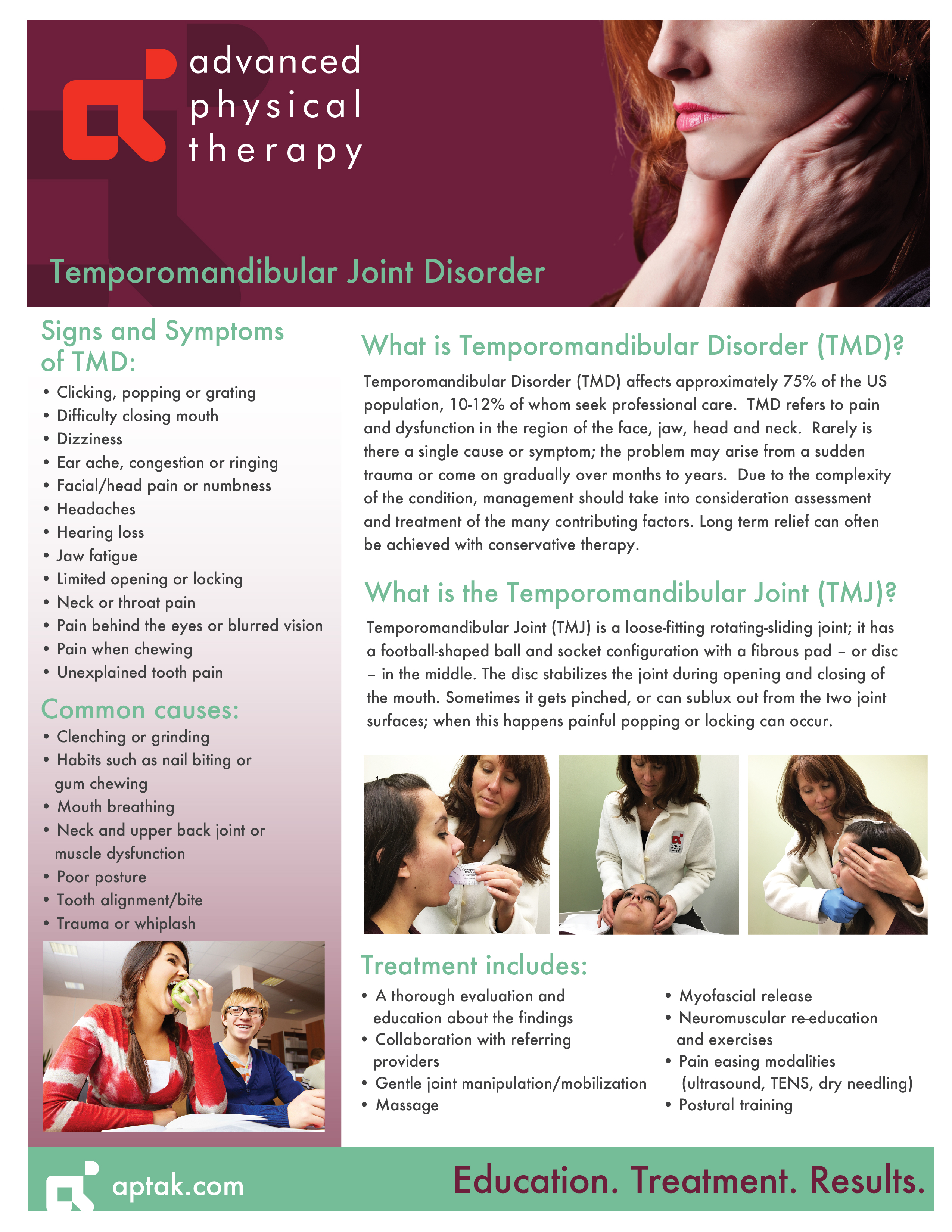 Tmd Tmj Advanced Physical Therapy
