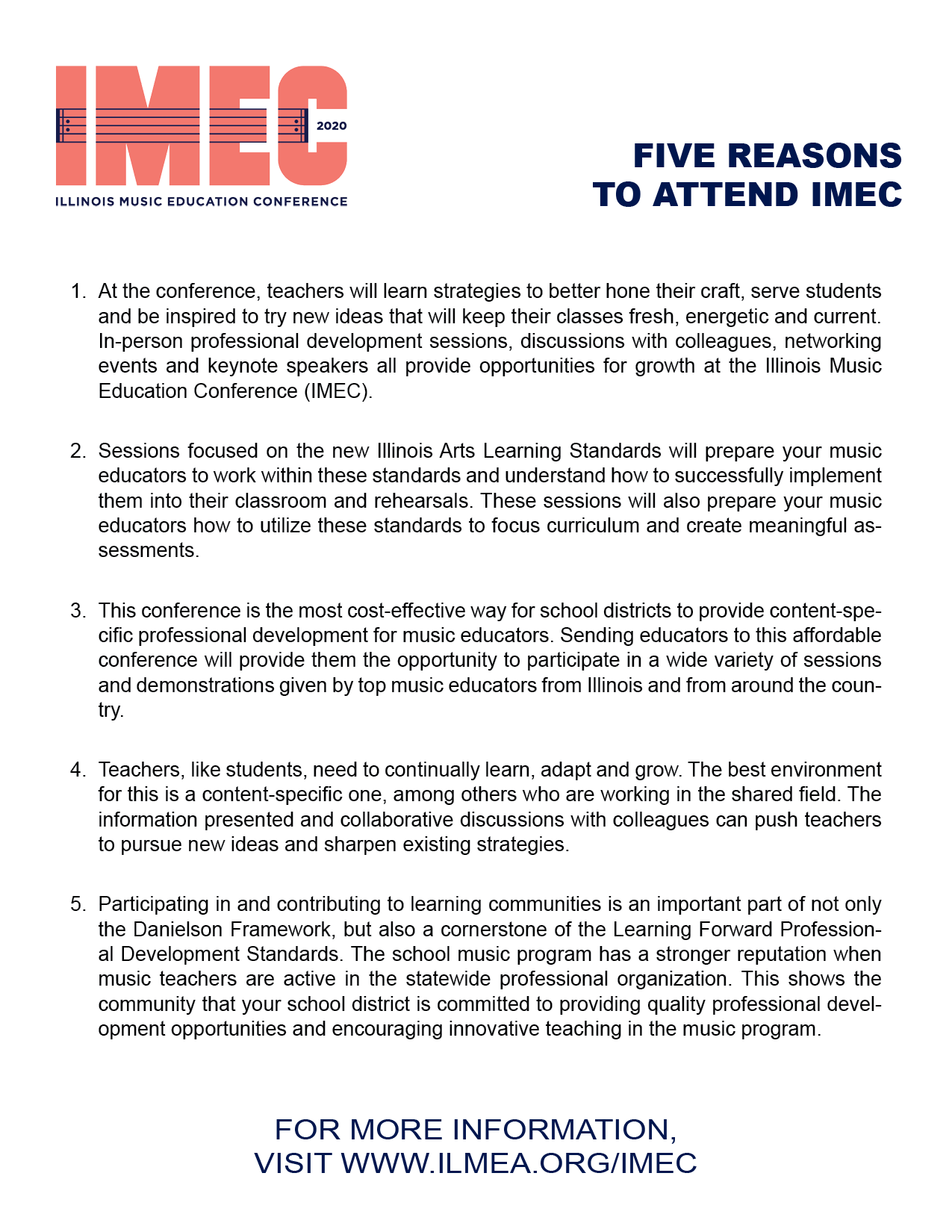 IMEC — Illinois Music Education Association
