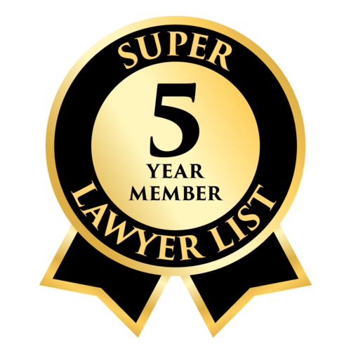5 Year member of the Super Lawyer List