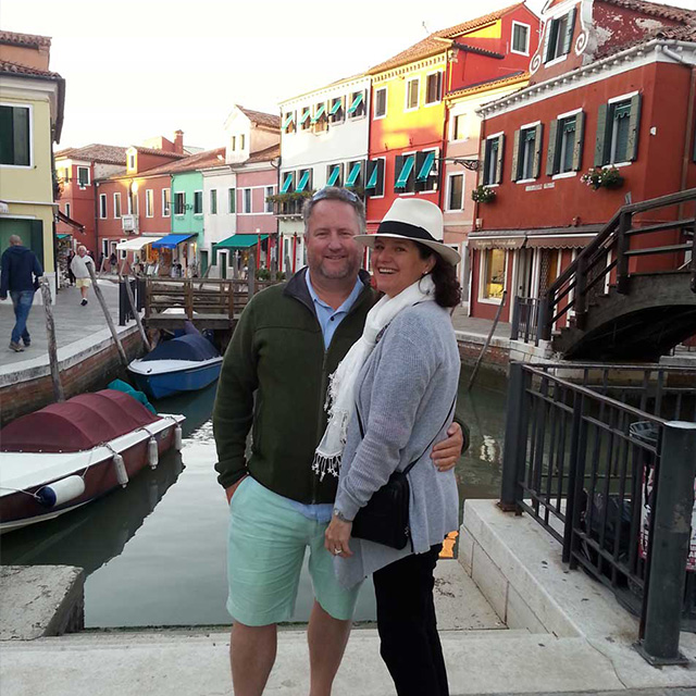 james and wife abroad