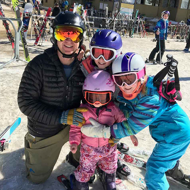 chad and family skiing