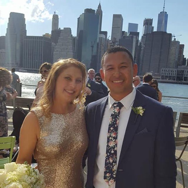 sammi at a wedding in NY