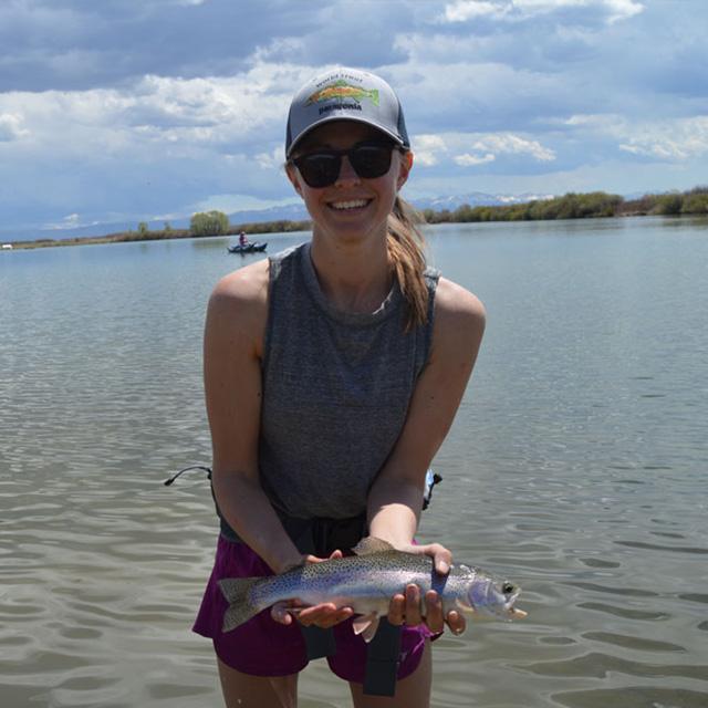 kayla holding f fish