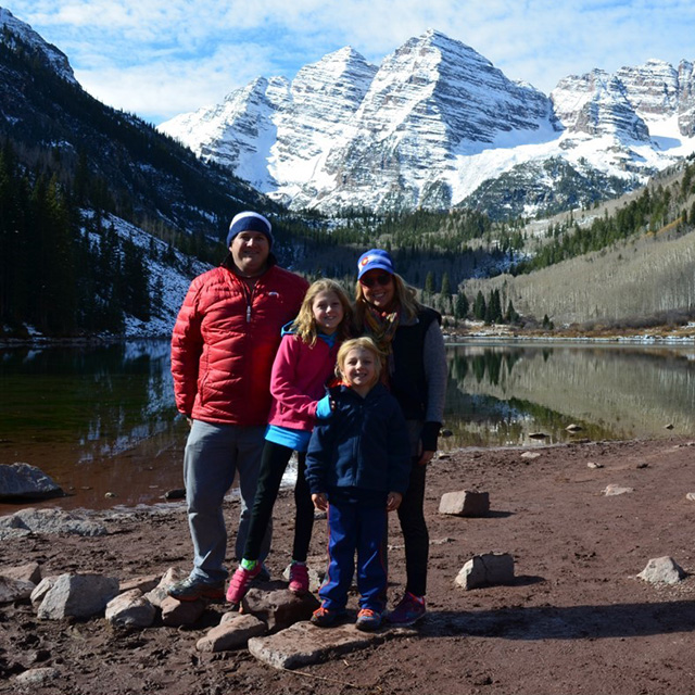 erin and family at lake in the mountains