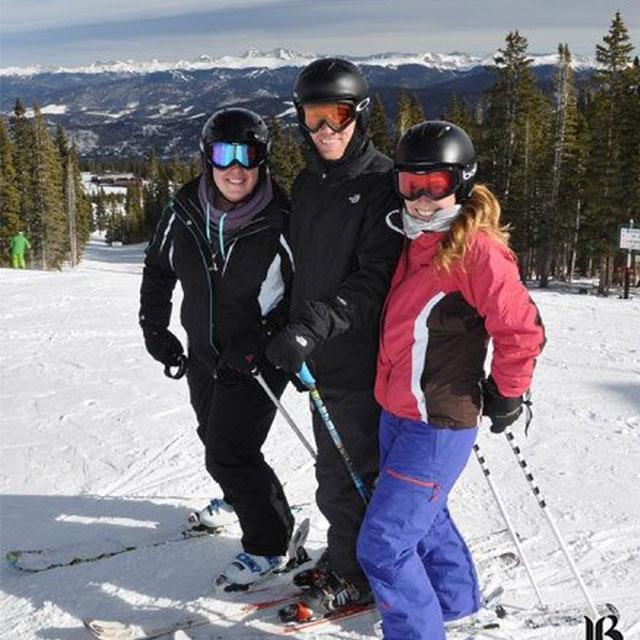 courtney skiing