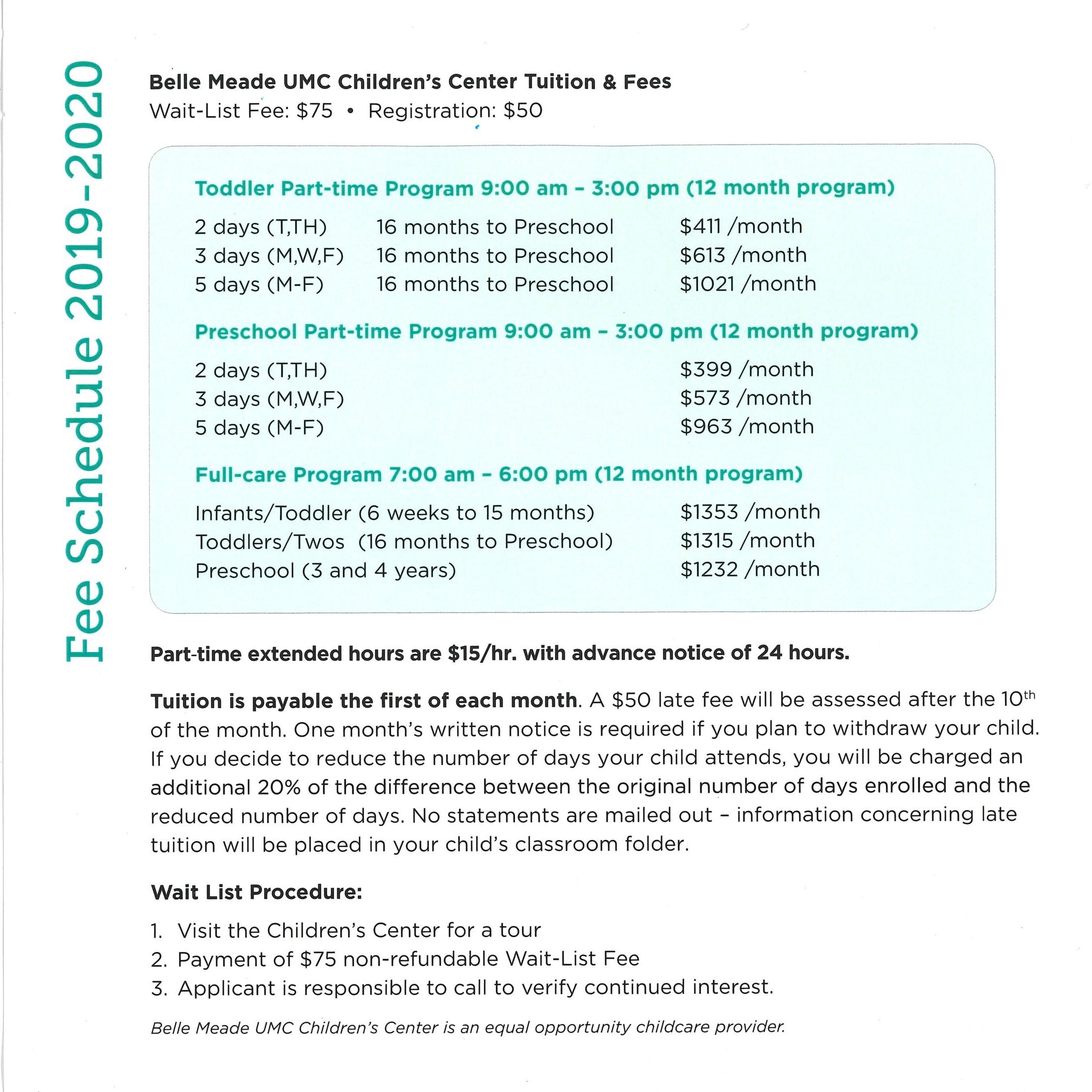 Bmcc Calendar 2020 BMCC 2019 2020 — Belle Meade Children's Center