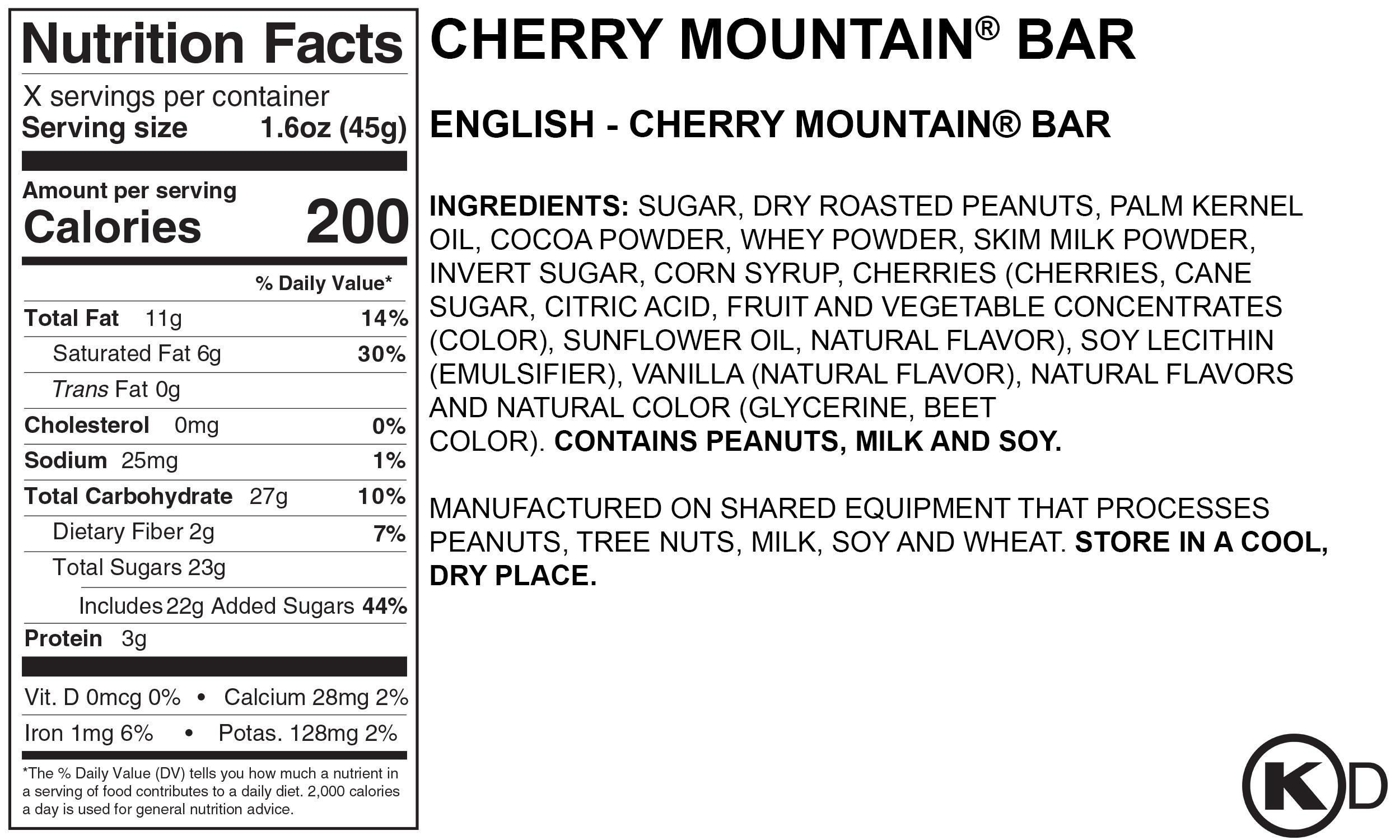 Nutrition Facts & Ingredients — BROWN & HALEY - ALMOND ROCA