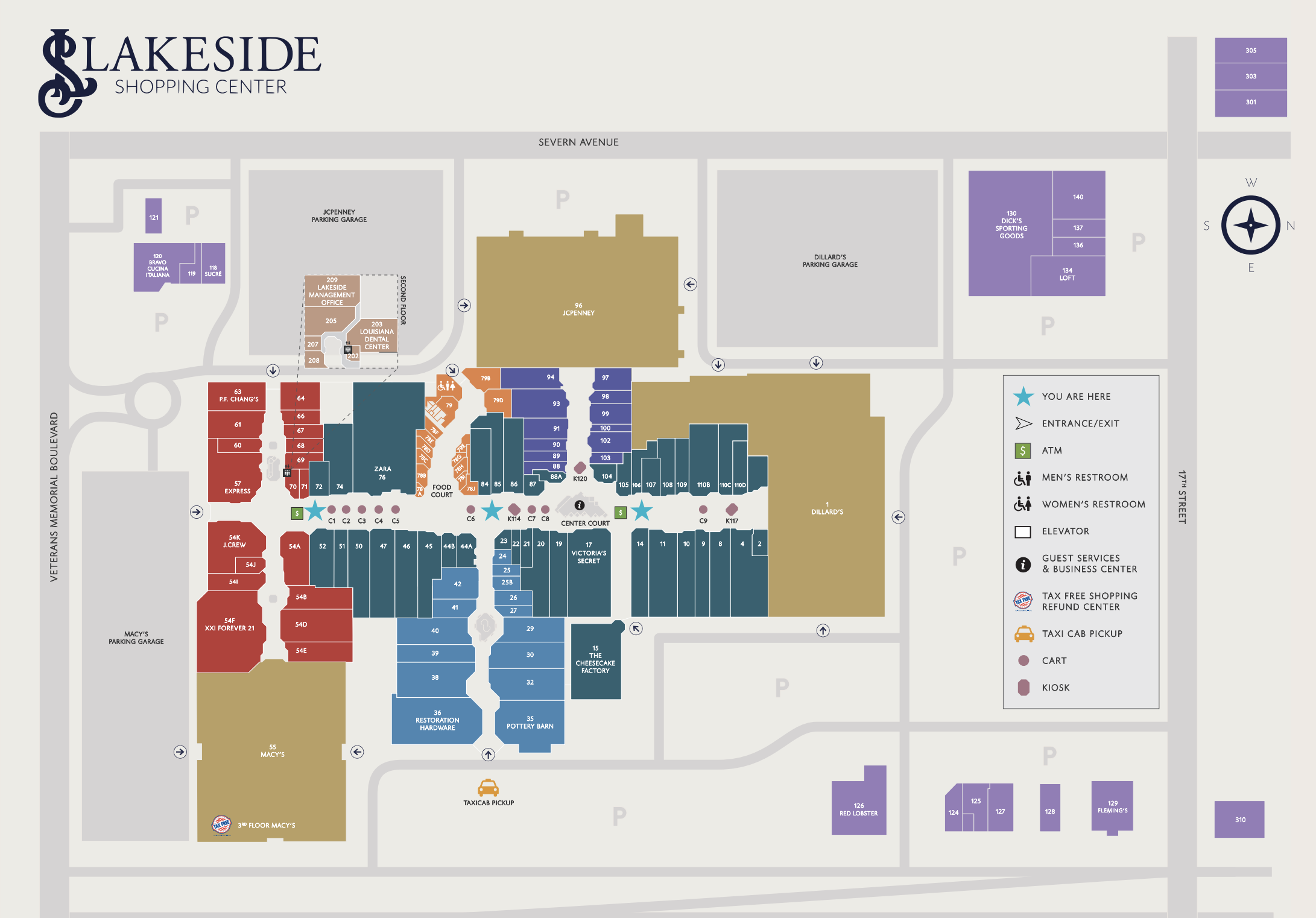lakeside mall new orleans map Visitors Lakeside Shopping lakeside mall new orleans map