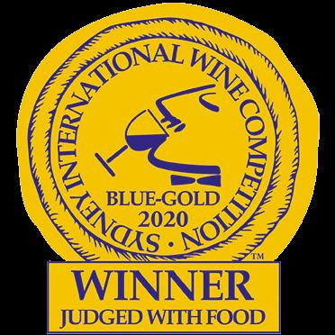 Sydney International Wine Show Competition Award Blue-Gold