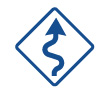 Curvy Road Sign Icon