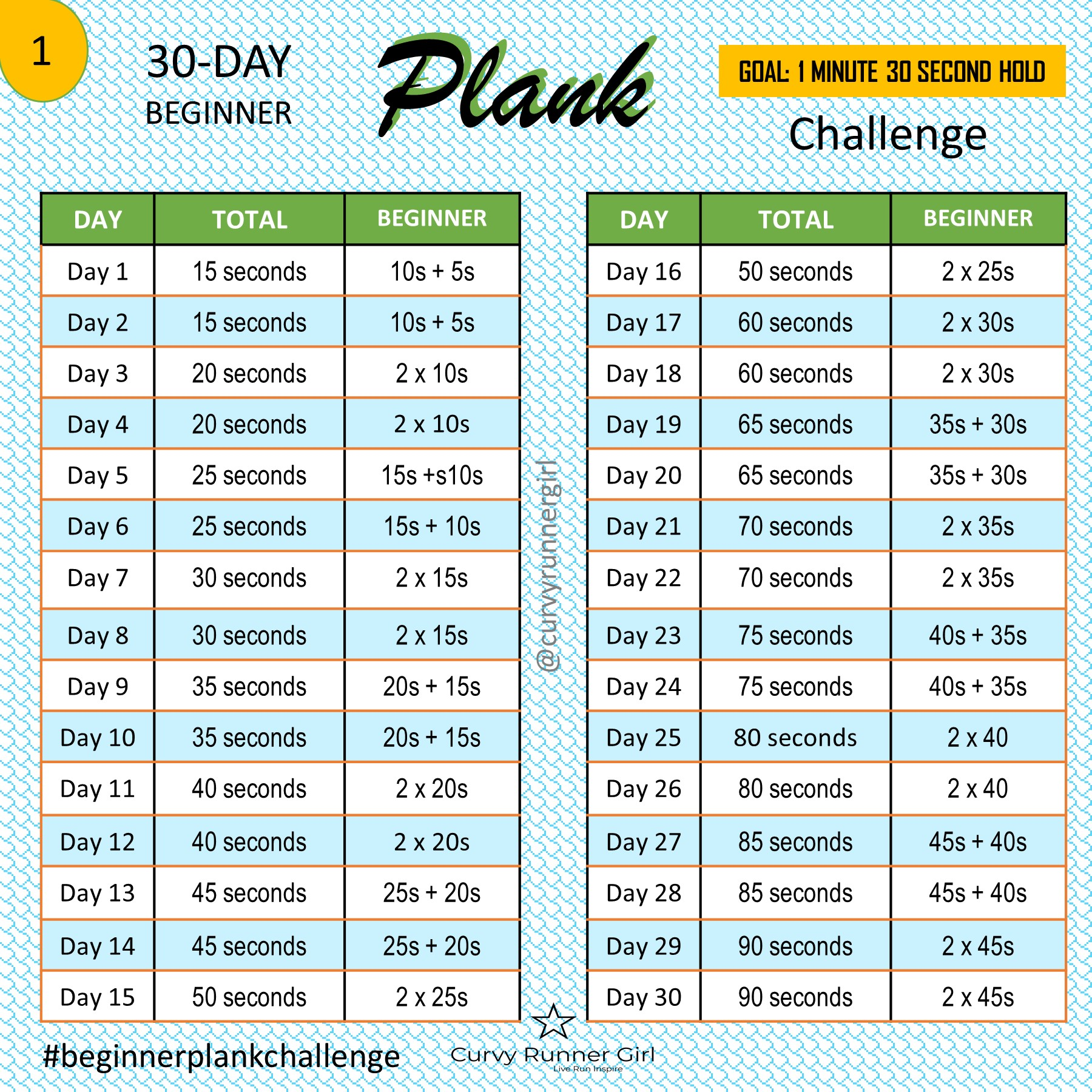 Shocking image with printable 30 day plank challenge