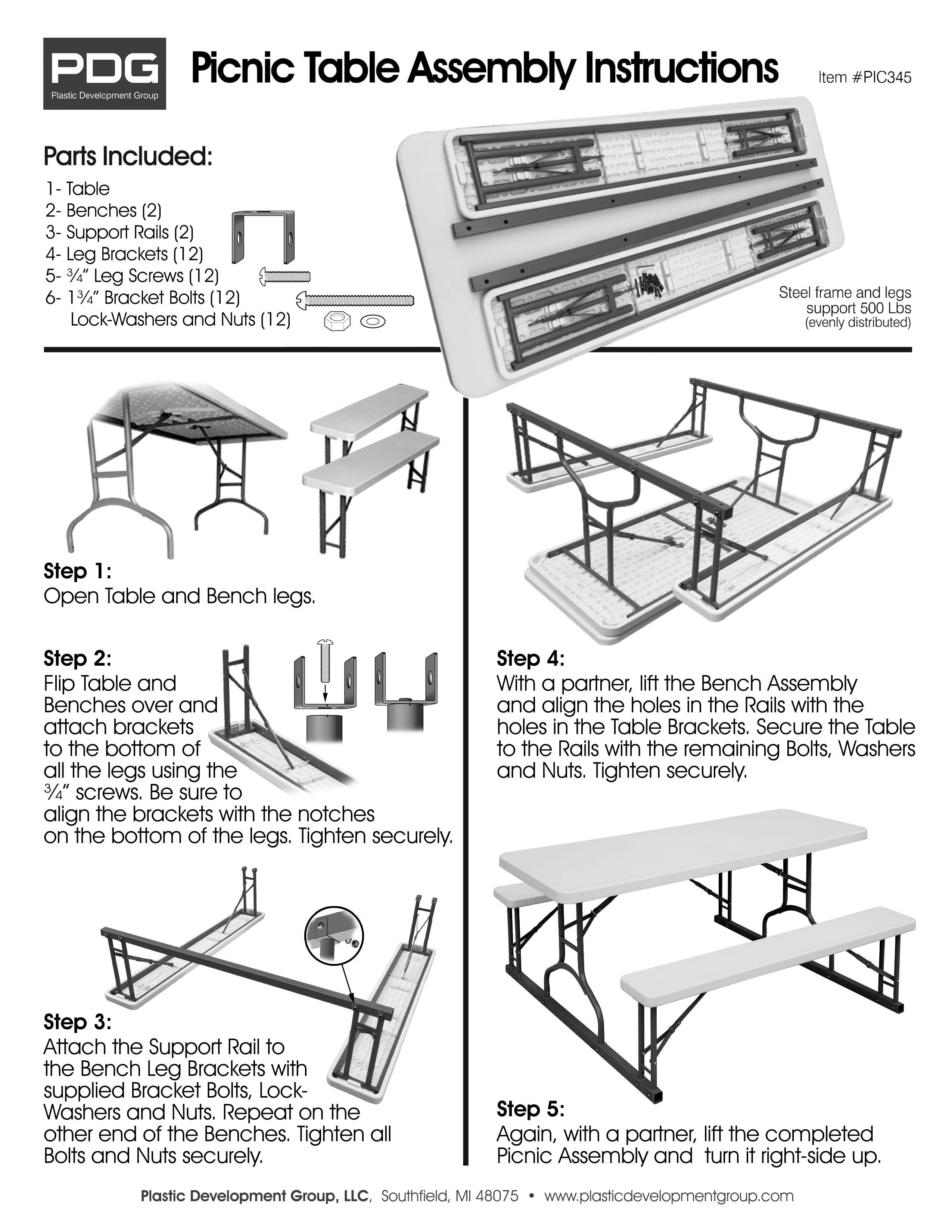Product Manuals Plastic Development Group