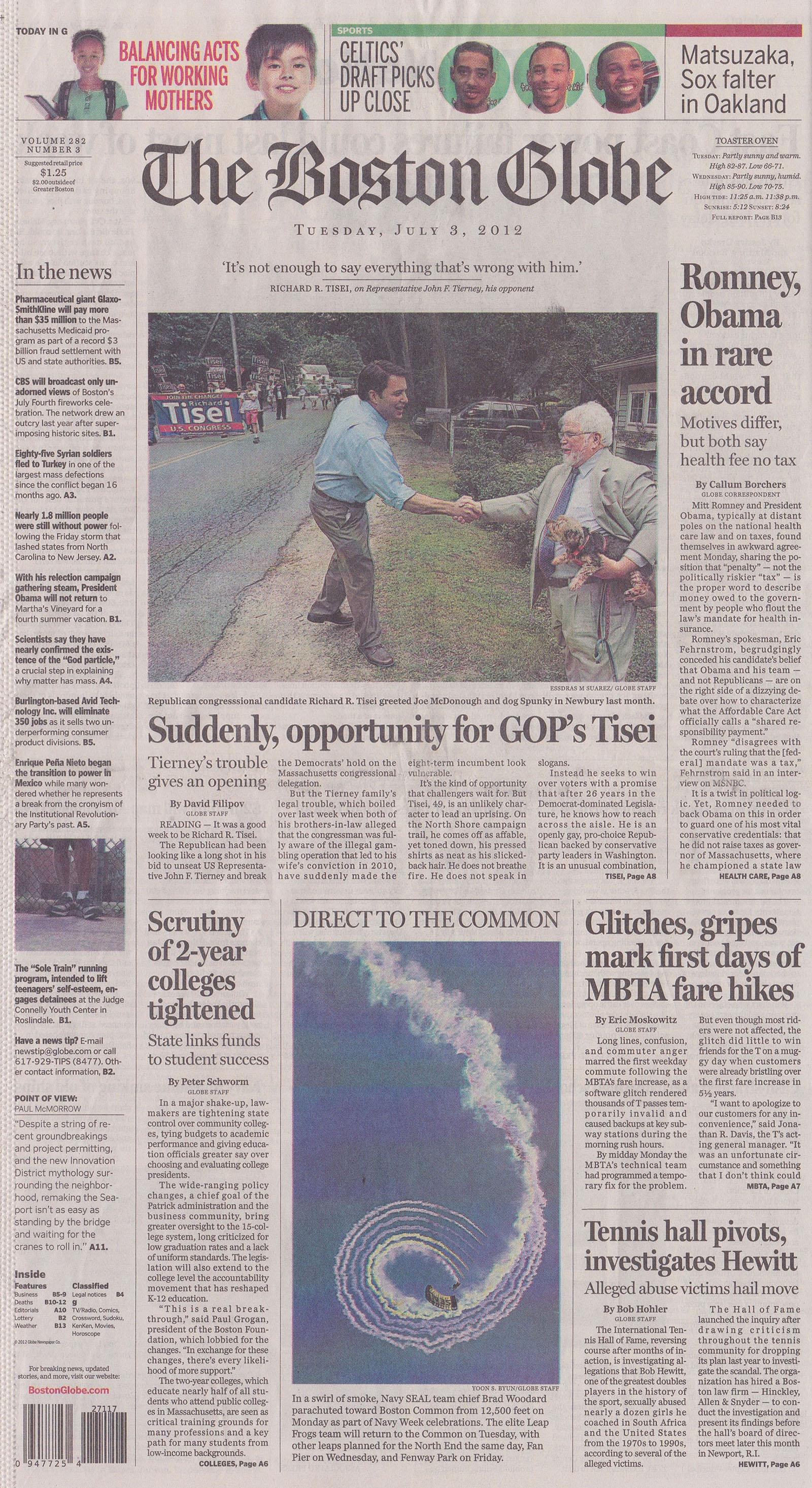 Boston Globe July 3 2012 Zack Hample
