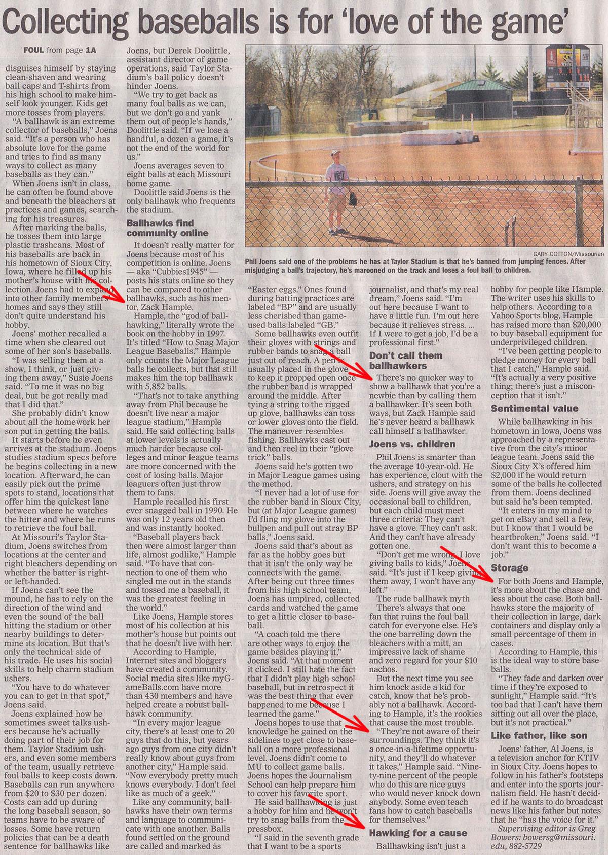 The Missourian April 26 2012 Zack Hample