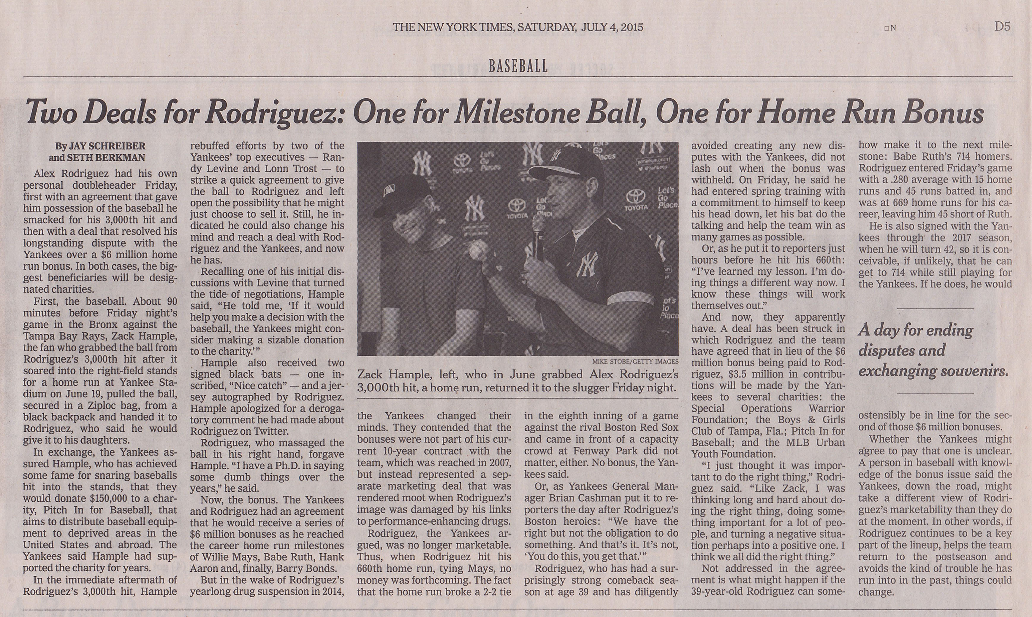 New York Times July 4 2015 Zack Hample