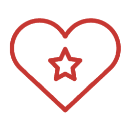 icon heartstar red