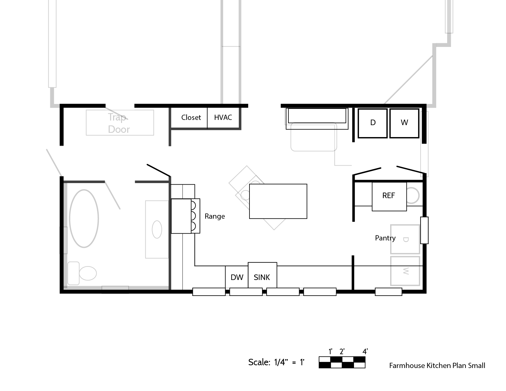 Our Final Farmhouse Kitchen Floor Plan (And How We Made the ... on