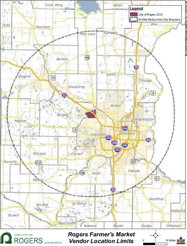Farmers Market City Of Rogers Mn - Rogers-us-coverage-map