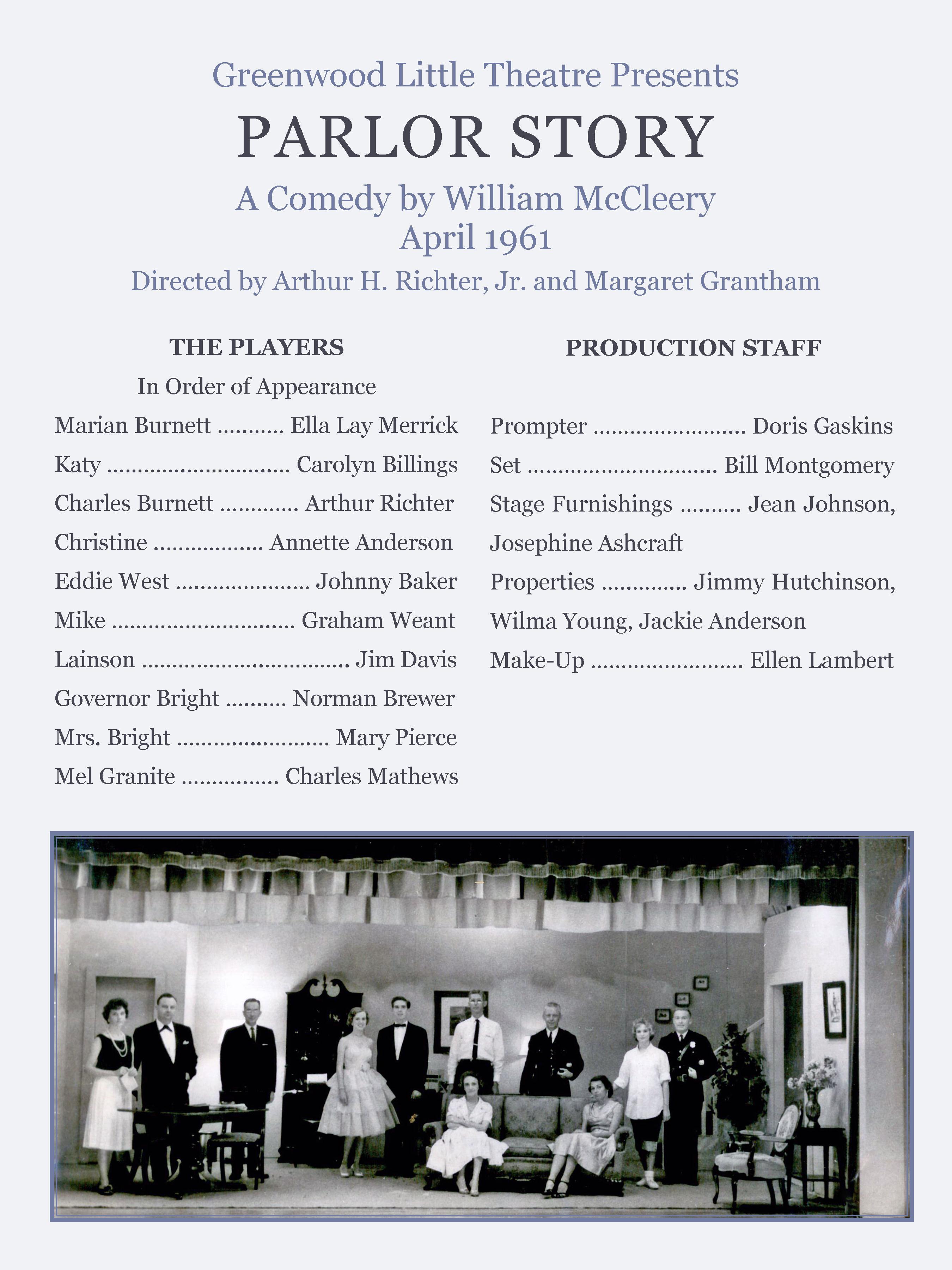 History — Greenwood Little Theatre