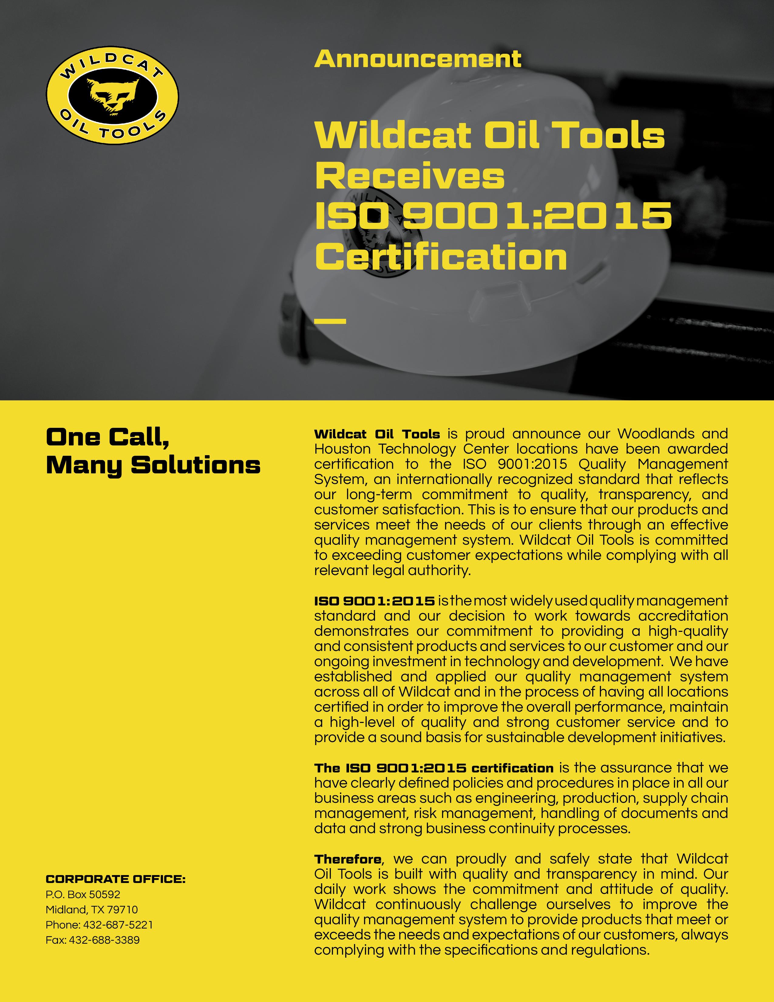 Wildcat Oil Tools
